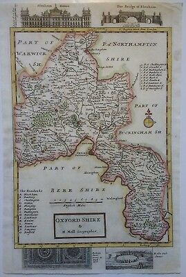 Antique Map of Oxfordshire by Herman Moll 1725
