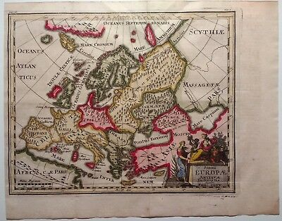 Antique Map of Europe by Philip Cluver engraved by John Senex 1711