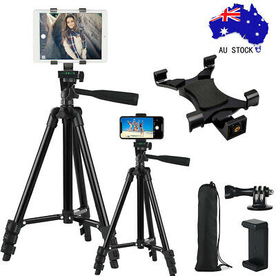 Professional Aluminum Lightweight Camera Tripod for iPhone iPad & Samsung Tablet