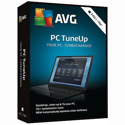 AVG PC TuneUp 2019 3 PC / User / Device 1 Year Clean & Speed Up Download 2018
