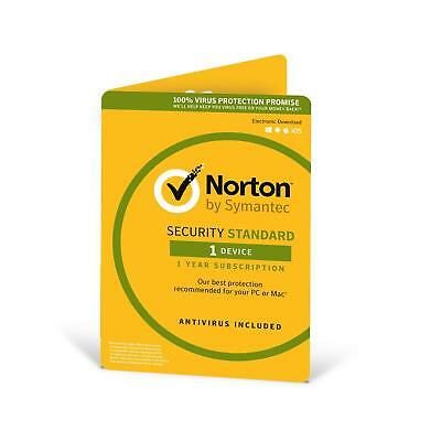 Norton Security Standard 2019 1 PC / Device 1 Year PC/Mac/iOS/Android and 2018