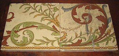 Minton Victorian Two Tile Part Panel Shabby Chic Look