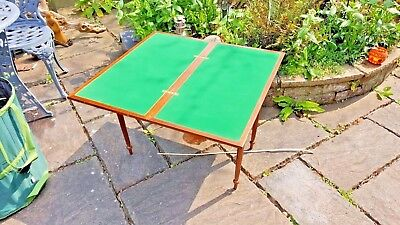 Vintage games table, veneer, folding with storage,legs store inside table