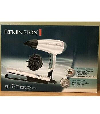 Remington Shine Therapy Hair Straightener and Dryer Gift Set New Sealed