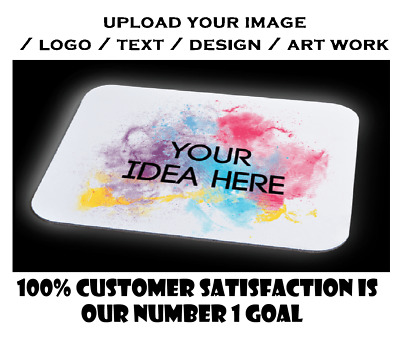 Personalised Custom Your Picture/ logo Computer Mousemat Mouse Pad Rubber