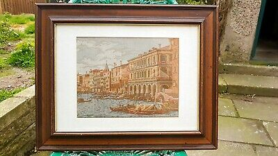 Tapestry Picture Wooden Framed Venice?? Boats