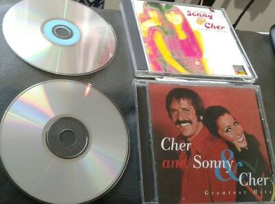 Lot for both Greatest Hits & Best of Sunny and CHER the Beat Goes On [1974] CDs