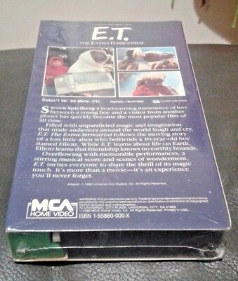 E.T. The Extra Terrestrial NEW VHS 1988 GREEN BLACK EDITION w/ Factory MCA seal