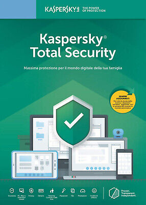 Kaspersky Total Security 2019 1PC 2PC 3PC 5PC 10PC / Dispositivi 1 Anno