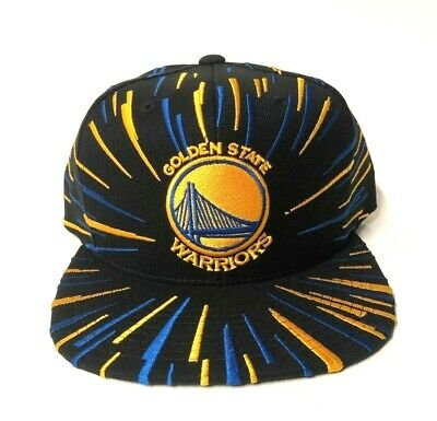 new style 4660e d9ed2 Golden State Warriors Mitchell   Ness Nucleo Black Snapback Hat Men s NBA  HWC