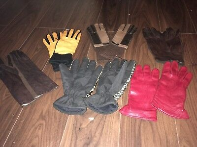 True Vintage Rare Classic 6 pair of retro gloves various colours size 7