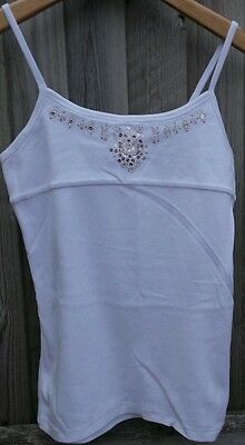 Gap Fabulous White Beaded & Sequined Strappy Vest Top Age 12 13 Years