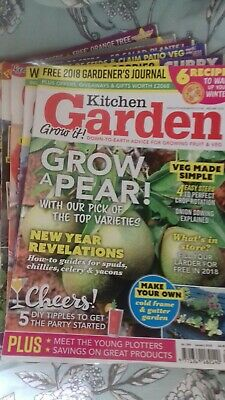 6 x Kitchen Garden magazines January February 2018 March April May June 2014