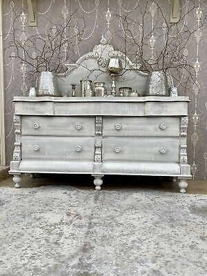 Carved Antique Double Chest Of Drawers,sideboard ,dresser