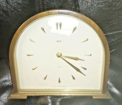 Stylish slimline Smiths 8-Day 'Adele' mantel clock  - FOR SPARES / REPAIR