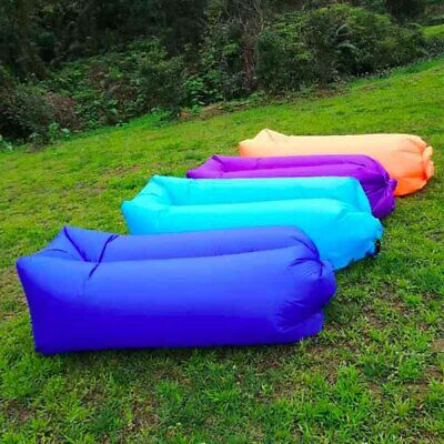 NEW Fashion Camping Inflatable Air Sofa Bed Lazy Sleeping Bag Couch Seat Lounger