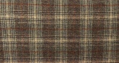 """HAND DYED RUG HOOKING WOOL Mill-Dyed APPLIQUE """" PERFECT BROWN PLAID"""""""