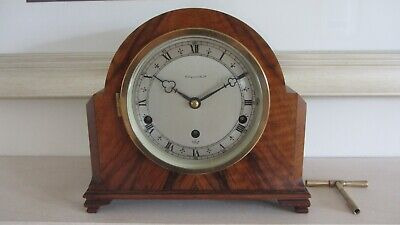 Elliott Three Train Mantel Clock Westminster Whittington Chimes