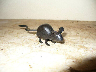 Cast Iron Metal Mice Mouse Rodent Animal Figurine Statue Home Garden Cabin Decor