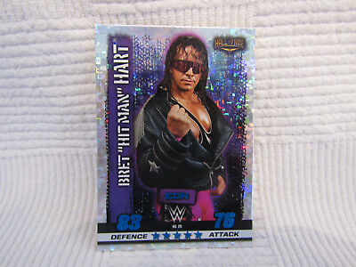 Bret the hitman Hart WWE Slam Attax Icon 10th Edition Card