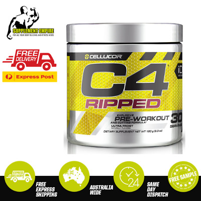 Cellucor C4 RIPPED Workout Increase Energy Preworkout 30 Serves