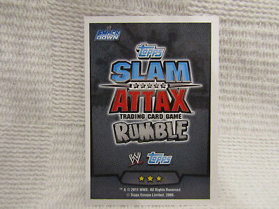 WWE Rumble Smackdown Slam Attax Trading Cards