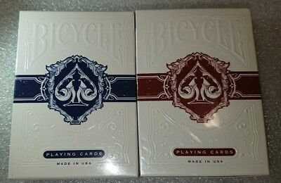 2x Decks Of BICYCLE LEGACY ( Blue & Red ) Playing Cards Sealed Uspcc