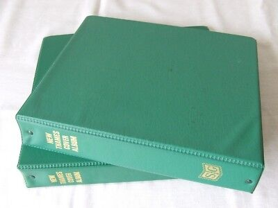 Pair Of Stanley Gibbons Green New Thames 4 Ring Albums & Packs/Covers Leaves