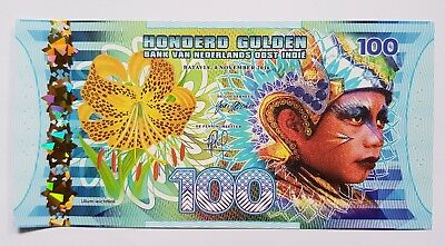 Niederlande East Indies (Indonesia), 100 Gulden, 2016 Polymer, UNC