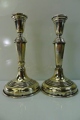 Antique/Vintage Palestine Hebrew Stamped Silver Rare 2 Candle Stick Holders