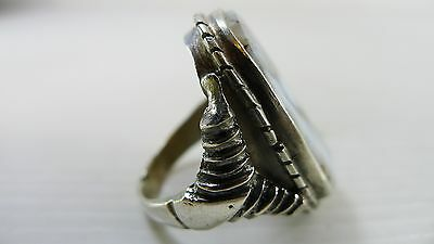 Antique/Vintage Lovely Old Large Islamic Size 8 2/3 Silver Ring, Good Condition