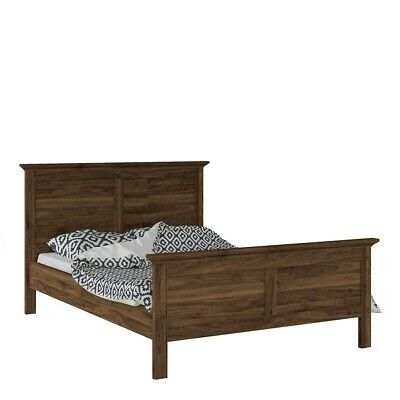 Paris Retro French Style Double Bed Frame Bedstead (140 x 200) in Walnut