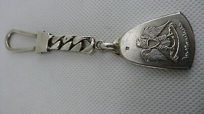 Old Vintage Egyptian Key Chain All 43 grams Solid Silver