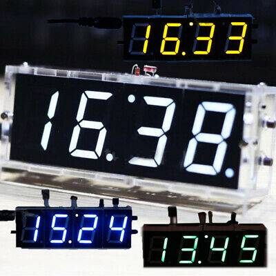 Electronic Digital Clock DIY Kit LED 4-Digit Light Control Temperature Date Time