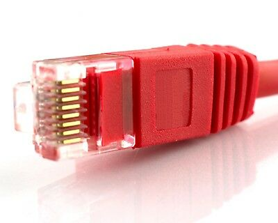 RED Network Cable RJ45 LAN Patch Internet Lead Cat 5e Ethernet Router Cat5e lot