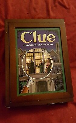 CLUE Game Vintage Collection WOODEN Bookshelf Wood Box 2009 New SEALED Pieces