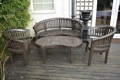Strange Vintage Solid Wood Teak Garden Furniture Seat Bench Table Ocoug Best Dining Table And Chair Ideas Images Ocougorg