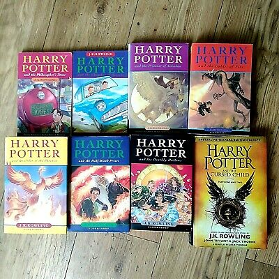 Harry Potter Books Complete set of 7, 3 First Editions & The Cursed Child