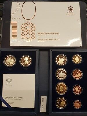 San Marino 2018 PROOF BE set KMS Divisionale serie 10 monete Tintoretto Bernini