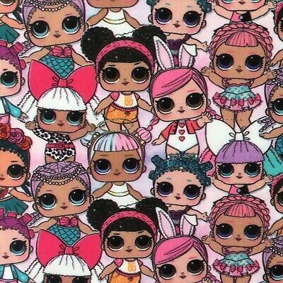 Fq Lol Surprise Doll Hearts Hops Sugar  Polycotton  Fabric Girls Character