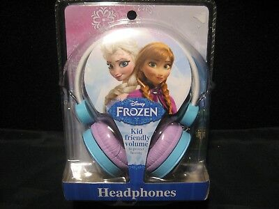 "Disney Frozen Elsa & Ana Girls ""Kid Friendly Volume"" Soft Ear Pad Headphones NEW"