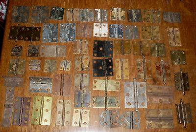 ( # 234) (( 57 )) Vintage Antique,mixed Hinges 1800's & 1900's ))))
