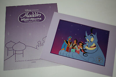 Disney Aladdin And The King Of Thieves Commemorative Lithograph 1996