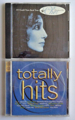 """CHER – Greatest Hits /  VARIOUS  - Totally Hits """" Lot Of 2 CDs """" Disco Dance Pop"""