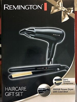 Remington Haircare Gift Ceramic Straightener & Power Dryer With 3 Year Guarantee