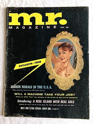 Vintage Mr. Glamour Magazine with Centerfold 1962 Vol. 6 No. 6 - Free P&P