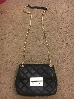 ef3cf3c8d6b5 Michael Kors Quilted Leather Sloan Chain Messenger Crossbody Bag classic  black