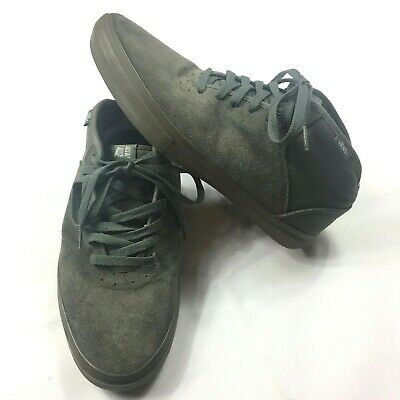 a07d848e2 VANS Men s Skate Shoes Stage 4 Mid Sneakers Leather Suede Canvas Gray Size  8.5