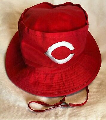 7ee7d0f30d228e Official Major League Baseball Cincinnati Reds - Red Sun Hat With Chin Strap