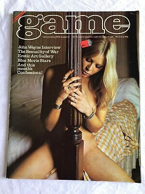 VINTAGE MEN'S GAME MAGAZINE VOLUME 1 NUMBER 2 - 1974 - Free P&P